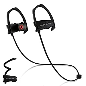 Bluetooth Running Headphones, Accering Waterproof Sport Wireless Inear Headphones with microphone, noise cancelling headphones Earphones