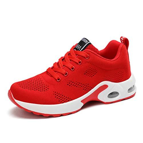 Scarpe Da Ginnastica Antiscivolo Trendy Passeggio Sneakers D Casual Nere Qianliuk Mesh Rosso Traspiranti Damping Donna Piatte Corsa Air xfFcE