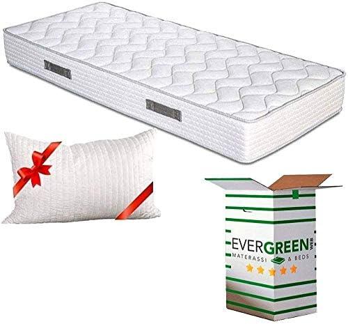 EvergreenWeb - Colchón Individual 90x200 de Waterfoam de 20 cm de Altura para Cama Doble - Transpirable y máximo Confort - Color Blanco - con Almohada ...