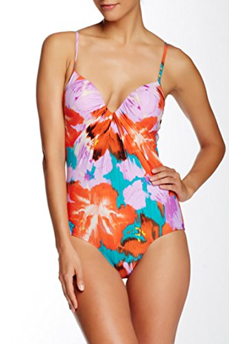SPANX Pretty Plunge One Piece Suit 'aloha floral' (14B/C)