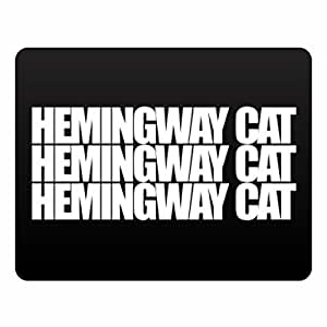 Eddany Hemingway Cat three words Plastic Acrylic