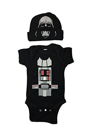 Darth Vader In Suit (Star Wars Baby Darth Vader Bodysuit Set With a Hat (6M))