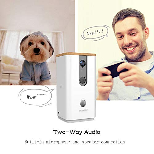 DOGNESS Dog Camera Treat Dispenser,HD Video WiFi Pet Camera with 2-Way Audio and Night Vision,Monitor Your Dogs and Cats by DOGNESS (Image #3)