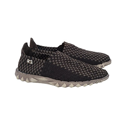 Dude Shoes Dude Farty E-Last 2 Woven Elast Chocolate Check Black GU4A3YgyD