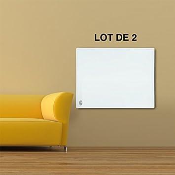 Lot de 2 Panneaux chauffage infrarouge 60 X 50 cm - 300W - 060259