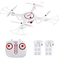 Amazingbuy - Latest Syma Drone X5UC RC Quadcopter 2.4G 4 Channel 6-Axis Gyro - Hover Function,Flip Stunts,Headless Mode, HD Camera,Barometer Set Height - X5C X5C-1 Upgraded New Version