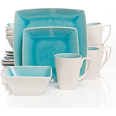 Click for Gibson Elite Urban Luxe 16-Piece Dinnerware Set, Turquoise