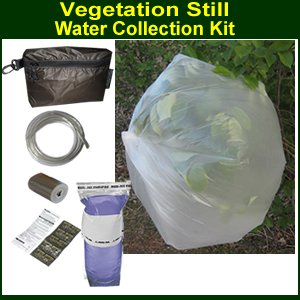 Solar Water Purification (Vegetation Solar Still Kit for Survival Water Collection)