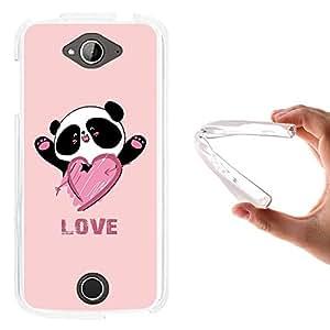WoowCase - Funda Gel Flexible { Acer Liquid Z530 } Oso Panda y Corazón Love Carcasa Case Silicona TPU Suave