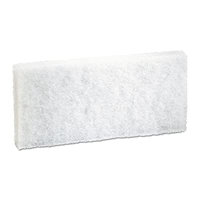 Premiere Pads Light-Duty White Pad, 4 x 10 - 20 scouring pads per case.
