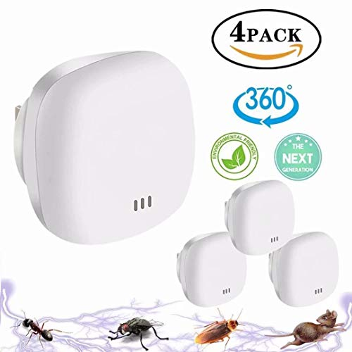 Yomitek Pest Ultrasonic Mosquito Repellent for Home Indoor-Quickly Removes Bugs Cockroaches Spiders Fleas Rats Mice Rodents Roaches Fruit Flies and More -Non-Toxic Eco-Friendly, Safe for Human & Pets(style 13)