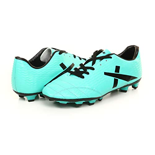 KD Vector Football Shoes Soccer Turf Shoes World Cup Cleats Firm Ground Performance Champion Studs (11 M UK, NXG Green/Black)