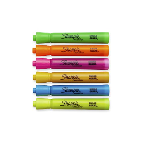 Sharpie Tank Style Highlighters, Chisel Tip, Assorted Colors, 12 Packs of 6 (72 Count) by Sharpie (Image #2)