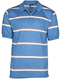 Men's Striped Mesh Polo Shirt