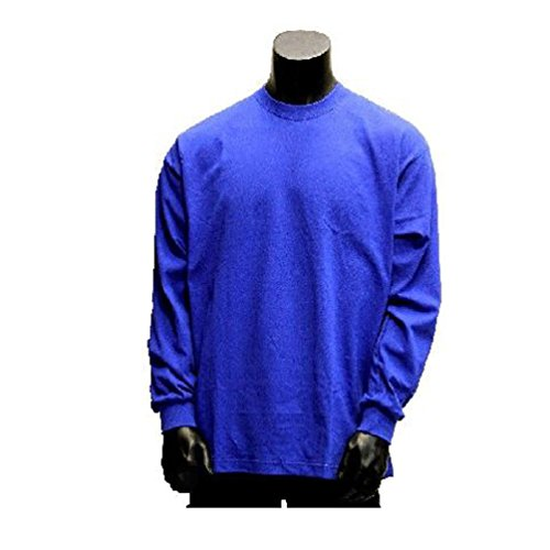 Big And Tall Heavyweight Plain Long Sleeve Crew Neck Shirts T Shirt Size M-5XL