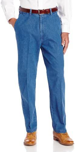 Haggar Men's Work-to-Weekend Expandable-Waistband Denim Pant