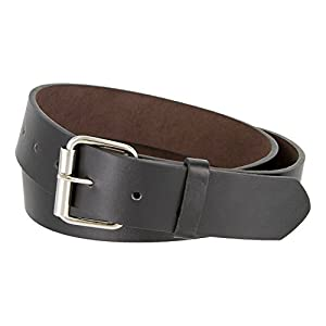 "B570 Mens Genuine Leather Belt With Silver Roller Buckle VARIOUS COLORS 1 1/2"" Wide"