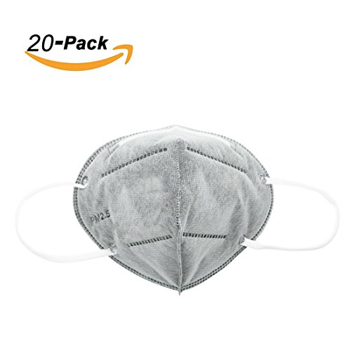 MoModer Particulate Respirator Non Toxic dustproof Filter Safety Masks 20pack Grey