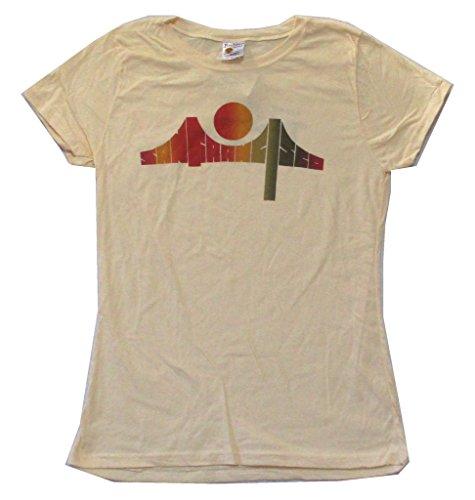 Death Proof San Francisco Bridge Cream Girls Juniors Shirt Grindhouse (L)