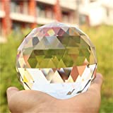Cut Crystal Prisms Clear Glass Prisms Ball for Home Photography Decoration Glass Light Source Lighting Ball Pendant,80mm