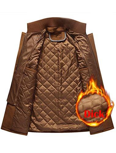 FTCayanz Manteau Homme Hiver Laine Trench Slim Fit Élégant Duffle-Coat Chaud Gris XL