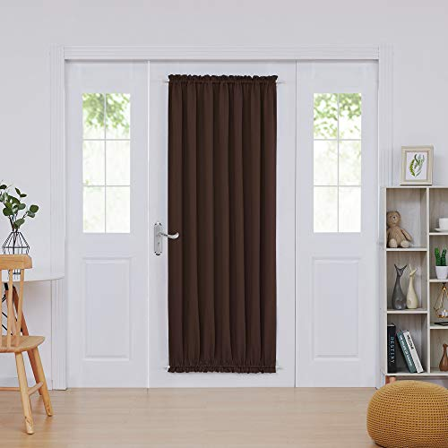 (Deconovo French Door Panel Shade Blackout Thermal Curtains for Patio Door Blackout Panel 54x72 Inch Chocolate 1 Panel)