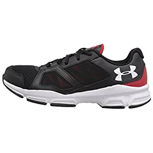 Under Armour Zone 2 Sneaker - black w red side