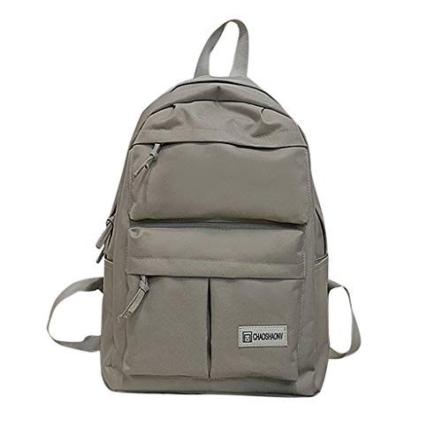 - Couple Schoolbag Sale - TOTOD Sale Fashion Travel Hiking Bag Simple Solid Backpack Collection Luminous Bag