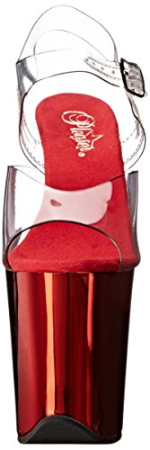 Sandales Pleaser Transparent Ouvert Rot Flamingo Clr Femme Chrome Bout 808 Klar Red pTEgT
