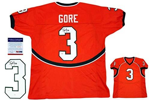 Frank Gore Autographed Signed Jersey - Orange - PSA/DNA Authentic ()