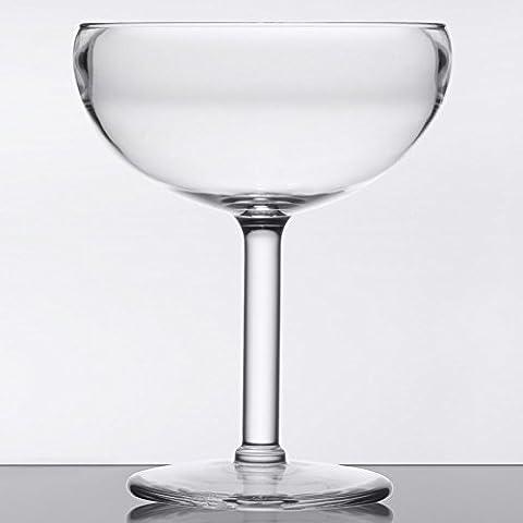 GET SW-1405-1-SAN-CL-EC BPA-Free Break-Resistant Plastic Margarita Glasses, 16 Ounce, Clear (Set of 4)