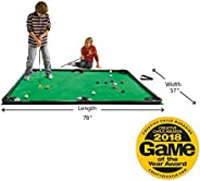 "HearthSong Golf Pool Indoor Family Game Kids Toy Carbon Fiber 78""Lx57""W Includes Golf Clubs, 16 Ball"