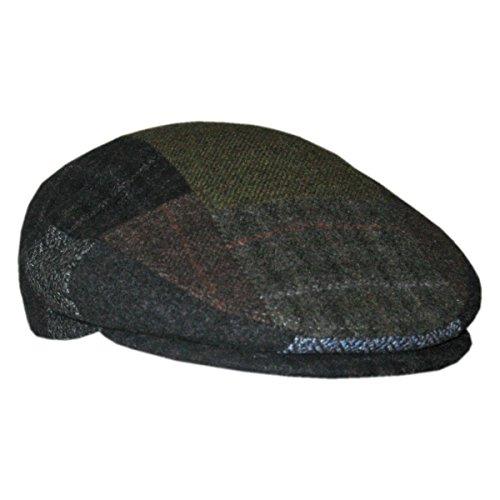 Multi Colored Tweed (Men's Patchwork Irish Cap - Multicolored, X-Large)