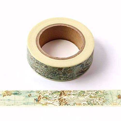 Vintage Nautical Chart Washi Tape for Planning /• Scrapbooking /• Arts Crafts /• Office /• Party Supplies /• Gift Wrapping /• Colorful Decorative /• Masking Tapes /• DIY