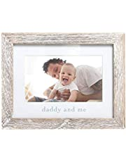 Pearhead Daddy & Me Keepsake Rustic Picture Frame, Father's Day New Dad Gifts from Baby, Distressed, 8x6.25x0.5 Inch (Pack of 1)