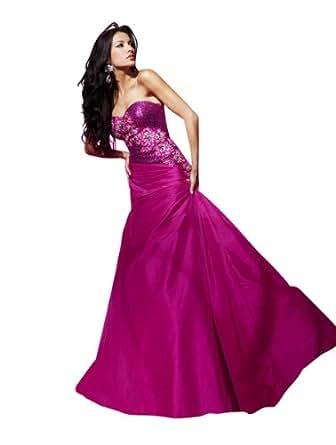 Tony Bowls Drop Waist Gown 112524, Fuchsia, 2 at Amazon