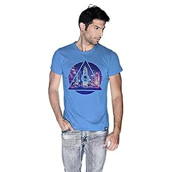 Creo Doha T-Shirt For Men - S, Blue
