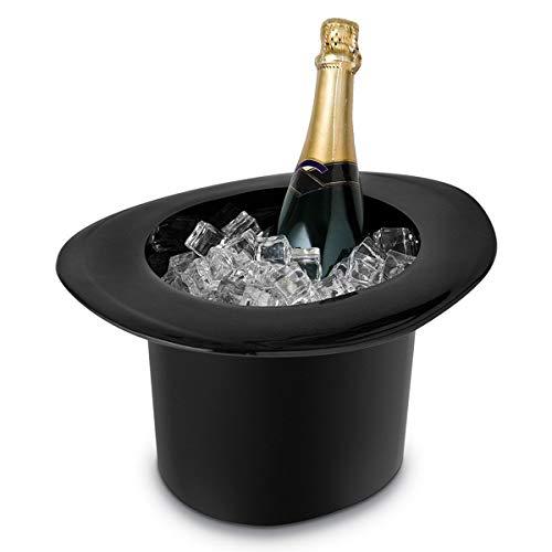 (Kisstaker Top Hat Ice Bucket, 1.2L Acrylic Top Hat Cap Shaped Ice Bucket Ch-ampagne W-ine Bottle Drinking Cooler)