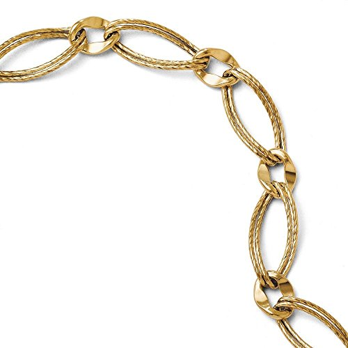 Texture Fancy 14 carats Bracelet JewelryWeb 7,5 cm
