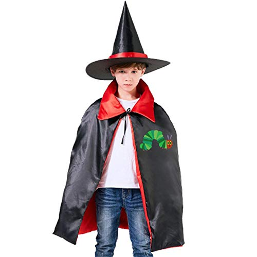 The Very Hungry Caterpillar Kids Halloween Costumes Witch Wizard Cloak With Hat Wizard Cape Party