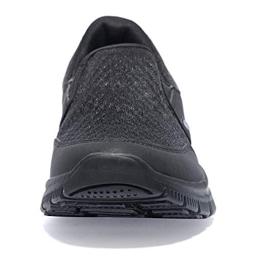 37030ef1de43 NewDenBer Sport Men's Casual Lightweight Slip-on Sneaker (7 D(M) US, All  Black)