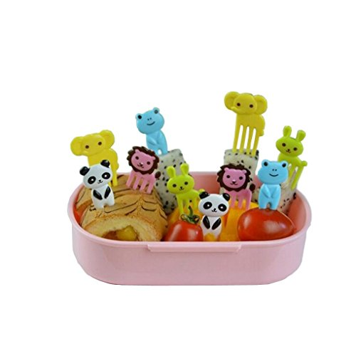 Tenworld Cartoon Animal Child Fruit Fork Creative Plastic Easy Decoration