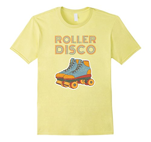 Mens Clothing 1970s - Mens Cool Vintage Roller Disco Retro 70s and 80s party T-shirt Medium Lemon