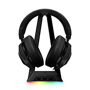 Razer Kraken Gaming Headset + RGB Headset Stand Bundle: Black