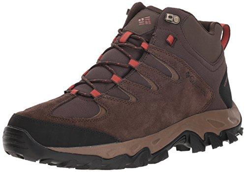 Columbia Men's Buxton Peak MID Waterproof Hiking Boot, Cordovan, Rusty, 13 Regular US