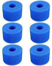 CJHZQYY 6 Stks Hot Tub Filter Cartridge, Foam Spa Hot Tub Filters Herbruikbare Wasbaar Zwembad Filter Foam S1 Type