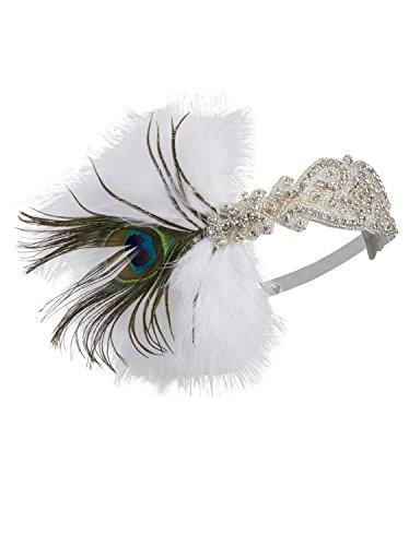[Vijiv Silver 20s Headpiece Vintage 1920s Headband Flapper Great Gatsby Style] (Great Gatsby Costumes)