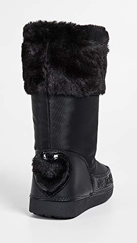 White Donna Black Moschino Love Snow Scarpe Hearth Boot Nylon D19mo27 5R77wqYf