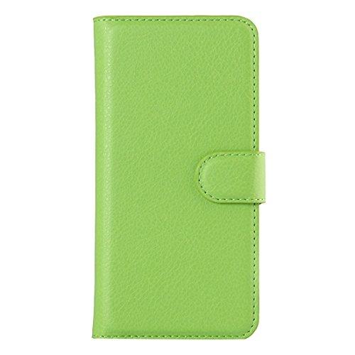Mobile protection Para el iPhone 6 y 6s Litchi textura Horizontal Flip caja de cuero con el titular y ranuras para tarjetas y cartera ( Color : Magenta ) Green