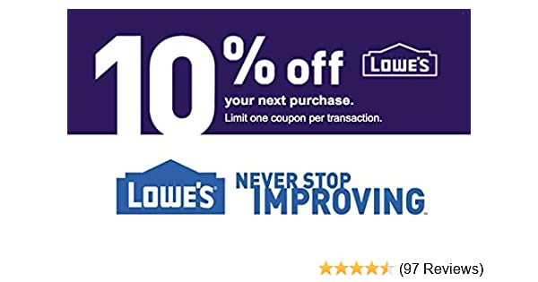 Lowe's 10 Percent off Promo Code [Email Delivery Only]